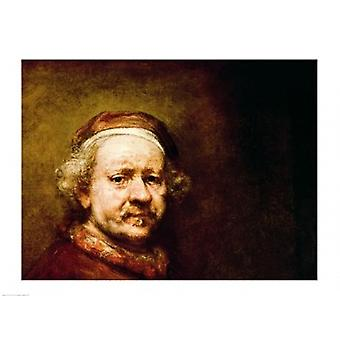 Self Portrait in at the Age of 63 1669 Poster Print by Rembrandt van Rijn