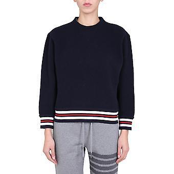 Thom Browne Fjt146a06918415 Women's Blue Wool Sweatshirt