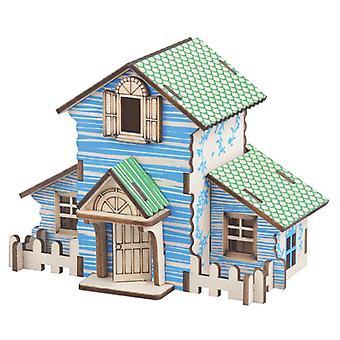Çocuk zeka ahşap 22 parça 3D bulmaca geliştirmek - Forest Lodge