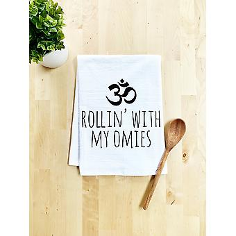Rollin' With My Omies Dish Towel White Or Gray