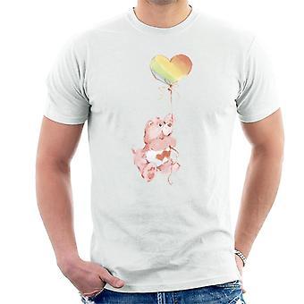 Hoito karhut rakkaus paljon karhu sateenkaari ilmapallo miehet't-paita
