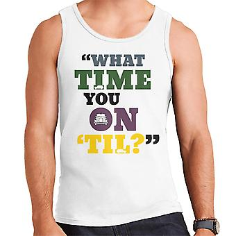 London Taxi Company What Time You On Til Text Men's Vest