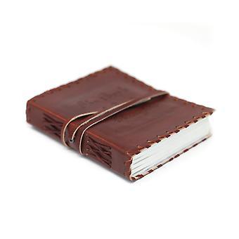 Livre en cuir de pensées avec carnet d'emballage (6x4') X 1