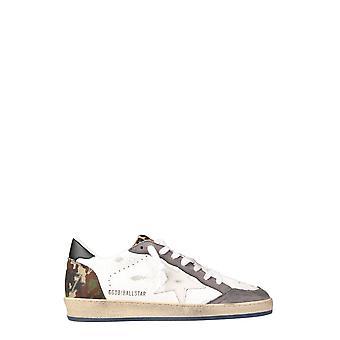Golden Goose Gmf00117f00063080515 Hombres's zapatillas de cuero blanco