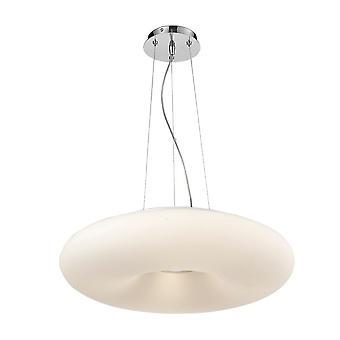 Modern hangend hangchroom, wit 4 licht met witte schaduw, E27