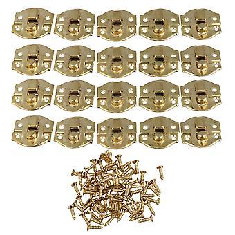 21 x 20mm Mini Boucle décorative Shackle Lock Cadenas Hasp Bijoux Coffret de 20