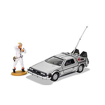 De Lorean (With Doc Brown Figure) from Back To The Future
