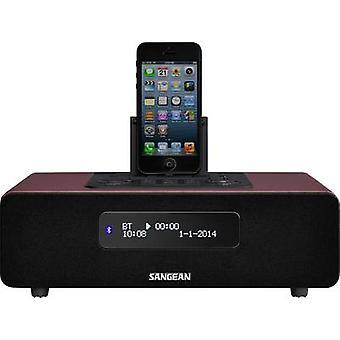 Sangean EPOCH 380 Desk radio DAB+, DAB, FM Apple Universal Dock, AUX, Bluetooth, DAB+, FM Battery charger, Incl. remote control, Alarm clock Brown