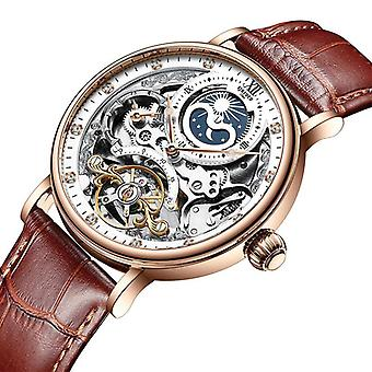 Skelet mechanische automatische horloge, Mannen Tourbillon Sport Clock Casual Business