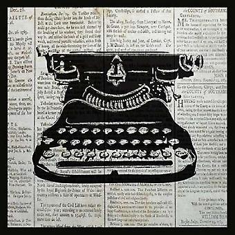 VINTAGE SKRIVEMASKINE plakat Print af Piper Ballantyne
