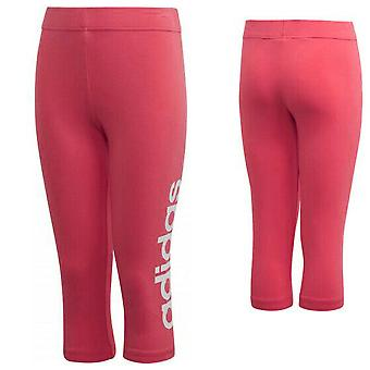 Adidas Girls Essentials Linear 3/4 Leggings Casual Gym Tight Pink DV0341