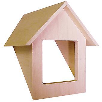 בובות בית מסורתי דורמר יחידה חלון מיניאטורי בוני 1:12 סולם עץ