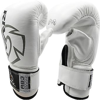 Rival Boxing Mexican Style Hook and Loop Bag Gloves - White
