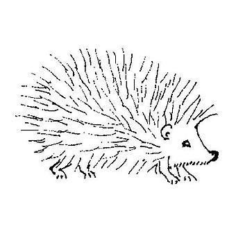 Umělecké známky ježek razítko