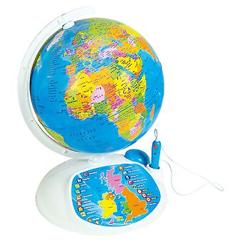 "Clementoni 61302 ""explore the world! the interactive globe"" toy without additional batteries"