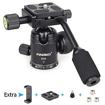 Tripod ball head with handle, innorel d30 all metal cnc panoramic monopod ball head camera mount wit
