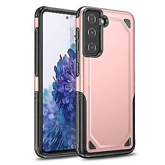 FONU Hybrid Rüstung Backcase Fall Samsung Galaxy S21 - Rose Gold