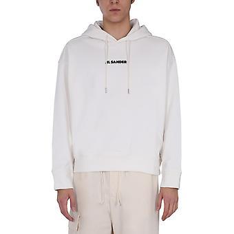 Jil Sander Jpus707533ms248608102 Men's White Cotton Sweatshirt