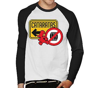 Woody Woodpecker Cataratas Hombres's Baseball camiseta de manga larga