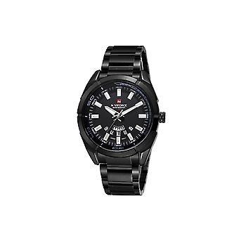 Naviforce Mens Homage Quartz Watch Black Watches Fashion Designer Gift