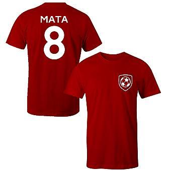 خوان ماتا 8 لاعب مانشستر يونايتد ستايل تي شيرت