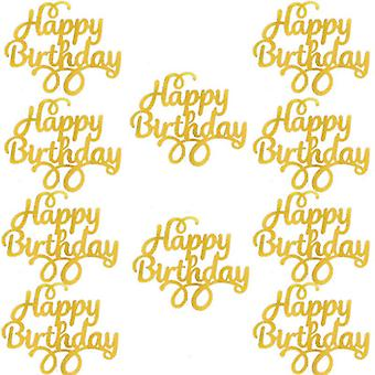 Gittler Happy Birthday Cake Topper Bling Sparkle Decoration Sign