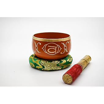 Sacral Chakra Singing Bowl mit Beater - Swadhisthana