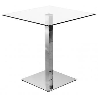 Blakey Clear Square Glass Top Stylish Table