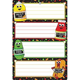 """Smart Poly Chart, 13"""" X 19"""", Catchup, W/Grommet"""