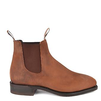 R.M. Williams Distressed Comfort Craftsman Bark Chelsea Boot
