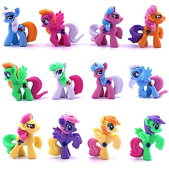 3-5cm My Little Pony Pvc Rainbow Horse Cute Action Toy Figures Dolls