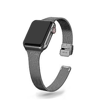 Slim Watch Band For Apple Se 6/5/4 40mm 44mm Metal Bracelet Loop Strap Iwatch