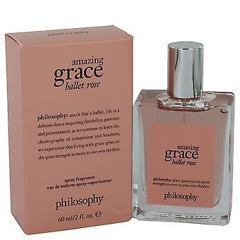 Amazing Grace Ballet Rose Eau De Toilette Spray By Philosophy 2 oz Eau De Toilette Spray