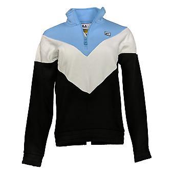 FILA Women & s 1/4 Zip Pullover Sweatshirt Fleece Black