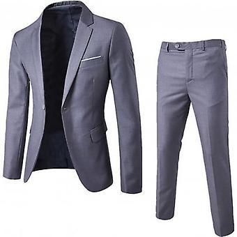 Men Classic Suit Sets, Black Men Business Blazer +vest +pant Suits Sets