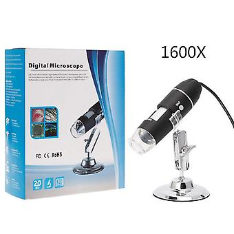 1600X usb digital microscope camera endoscope 8led magnifier with hold stand 28tc
