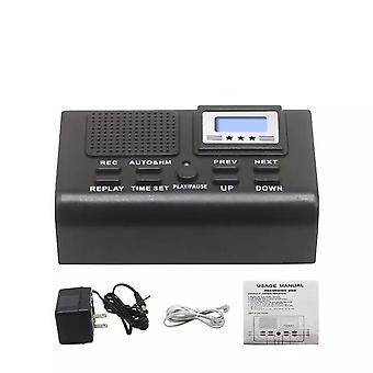 Enregistreur d'enregistrement numérique de boîte d'enregistrement de téléphone fixe à cristaux liquides supporte l'enregistrement automatique de l'enregistreur portatif d'appel téléphonique fixe
