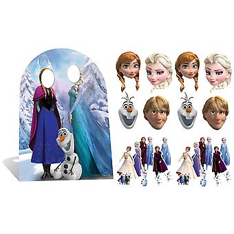 Frozen Party Pack with Cardboard Stand in, Masks and Tabletops