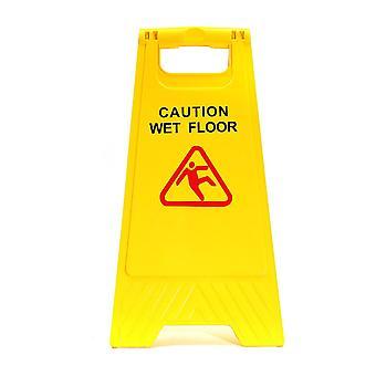 Nieuw geel waarschuwing natte vloer teken