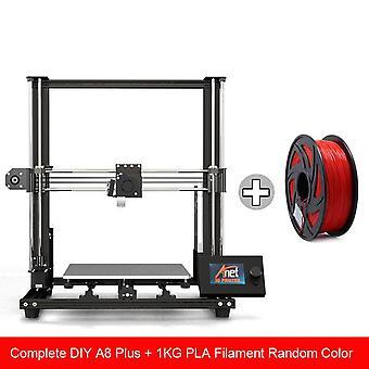 New anet a8 plus 3d printer kit big size 300*300*350mm high precision metal desktop 3d printer diy impresora support tpu