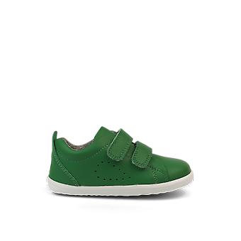 Bobux step up grass court emerald green trainer shoes