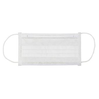 DEO Face Mask - White - High Filtration & Breathability - 3 Ply - Pack of 50