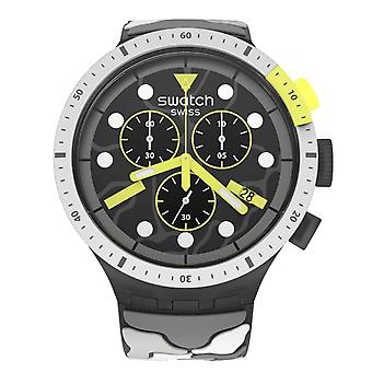 Swatch Sb02m400 Big Bold Chrono Escape Artic Silicone Watch