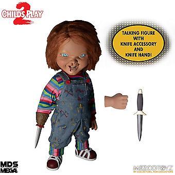 Chucky Menacing 15 Inch Mezco Figure with Sound