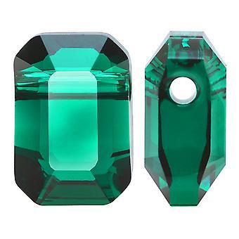 Swarovski Crystal, #5514 Pendulum Beads 8x5.5mm, 2 Pieces, Emerald