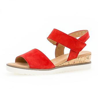 Gabor Raynor komfortable Wildleder Wide Fit Fashion Sandalen In rot