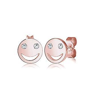 Elli Korvakorut naisille, hymyilevät kasvot, kiteet, sterling hopea 925(2)