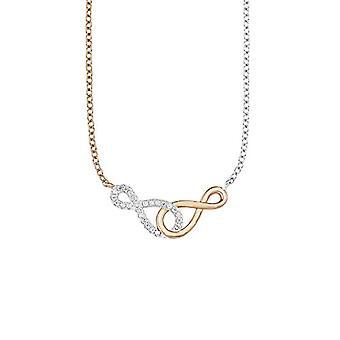 Amor Kvinnors halsband med oändligt hänge symbol för den oändliga 8 tvåtons silver Sterling 925 NOTEBOOK-ros vergoldet Ref. 4020689123971