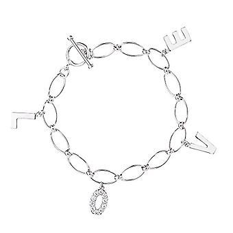Eye Candy ECJ-BR0038 - Women's Bracelet in Silver 925 with 10 White Zircons, 17 cm