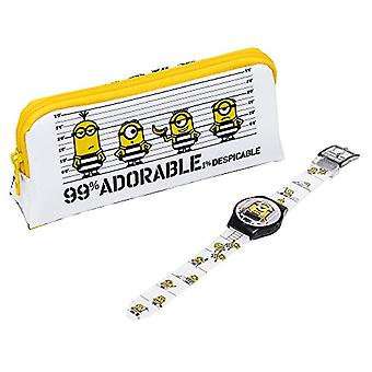 Minions Kinderkwarts Digitaal Horloge met Plastic Band MNS140SETA(2)